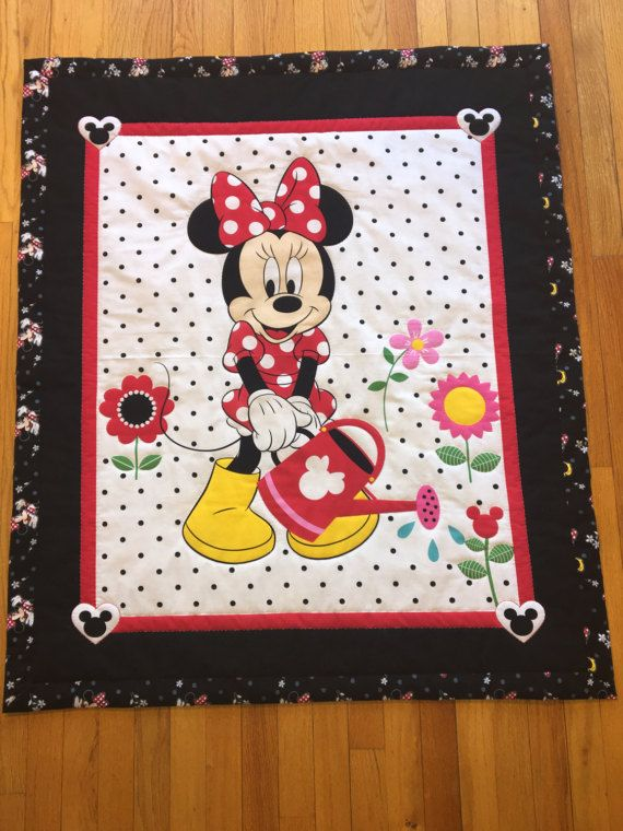 Baby Quilt/Baby Quilt Panel/Minnie Mouse Quilt/Baby Girl Quilt ... : minnie mouse quilt panel - Adamdwight.com