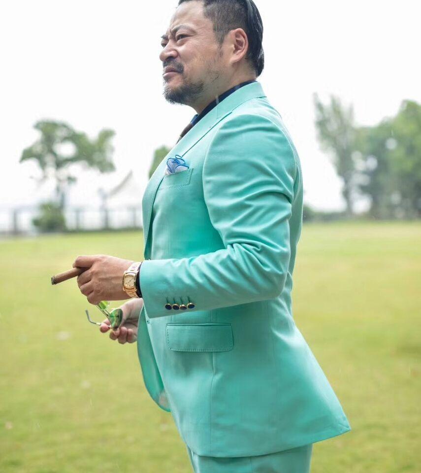 Grass green wool suit mens fashion pinterest wedding suits