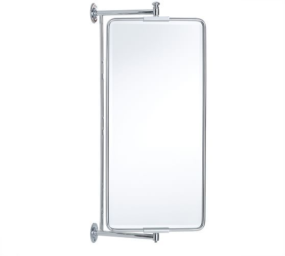 Vintage Rounded Rectangular Swivel Mirror In 2020 Bathroom Decor