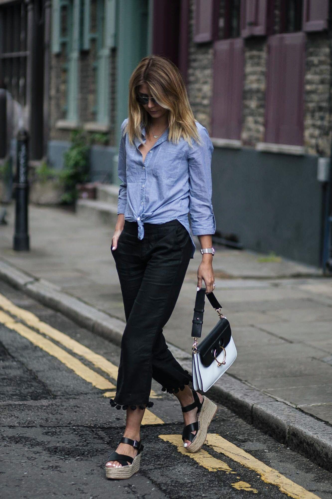 cca245f31e5 Zara pom pom hem black cropped trousers