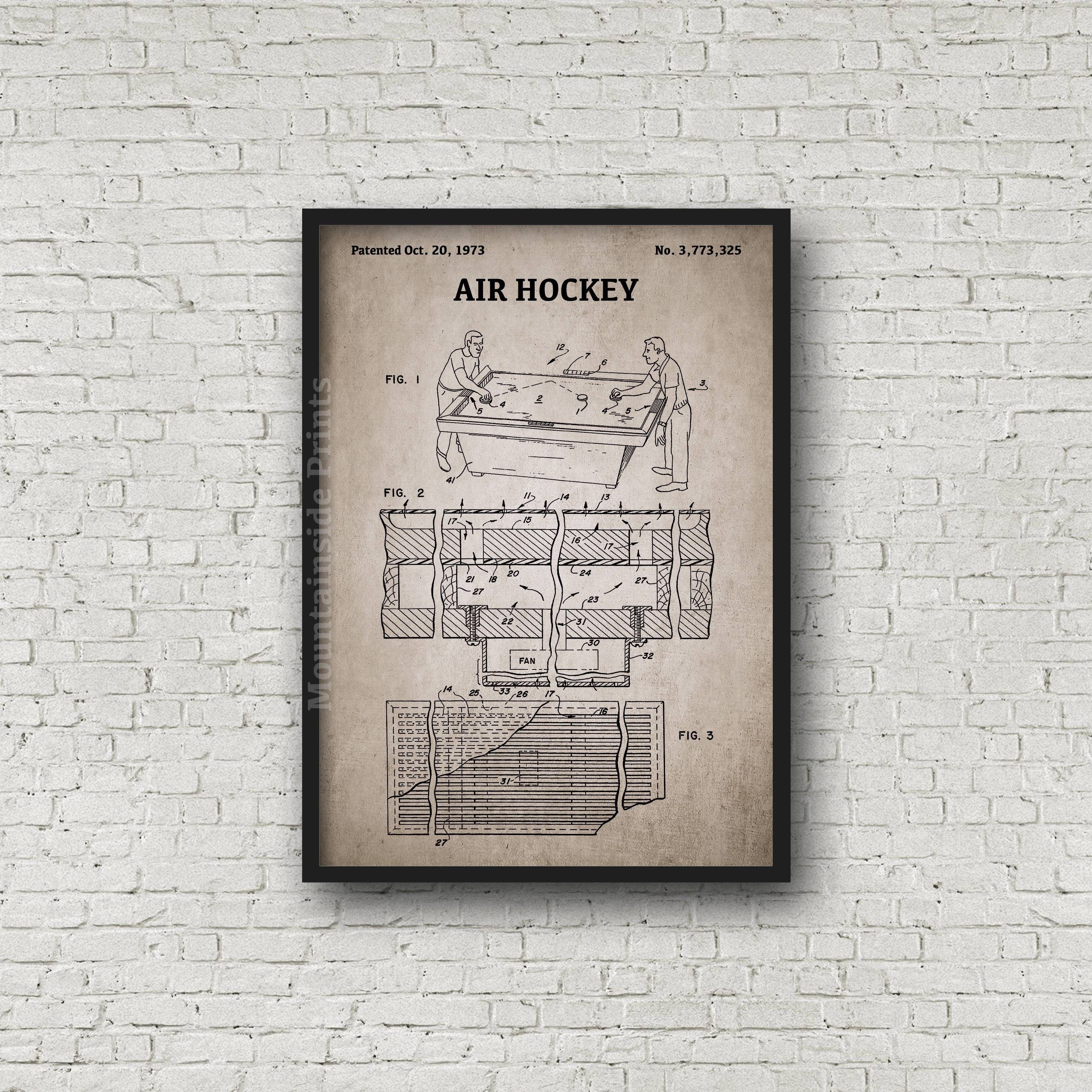 Air hockey patent print air hockey patent poster blueprint art air hockey patent print air hockey patent poster blueprint art vintage game gift blueprint poster patent wall art game room art malvernweather Images