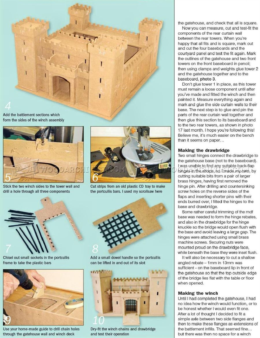 wooden castle plans - wooden toy plans | wooden toys