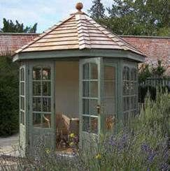 Malvern Hopton Painted Cedar Summerhouse