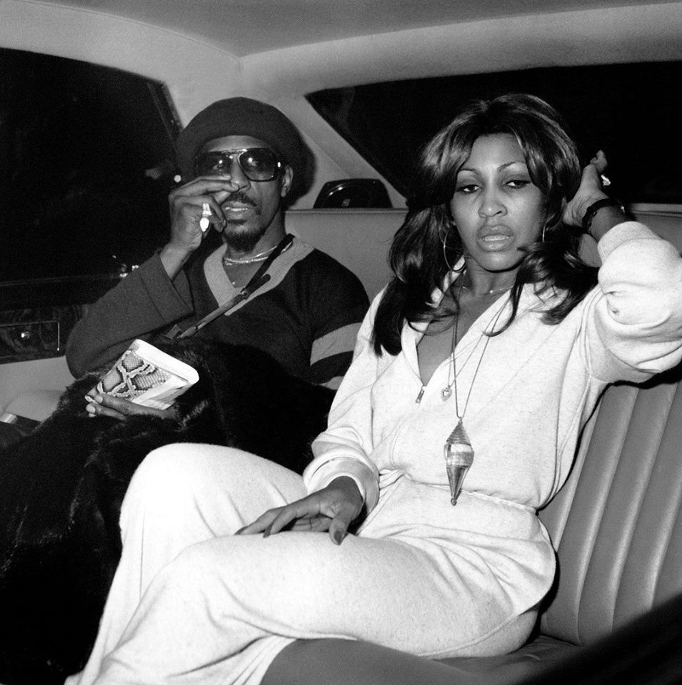 Tine Turner with ex-husband Ike Turner
