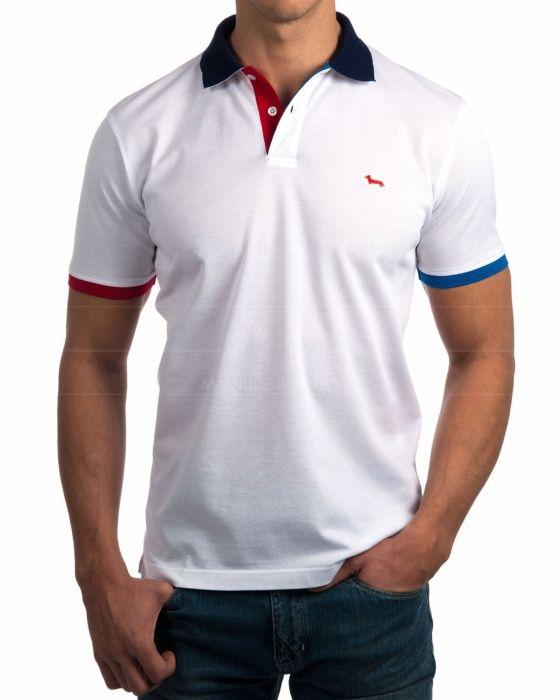 best authentic ac773 3b2d6 Polo Harmont   Blaine - Blanco Moda Hombre Joven, Ropa Casual De Hombre,  Camisetas