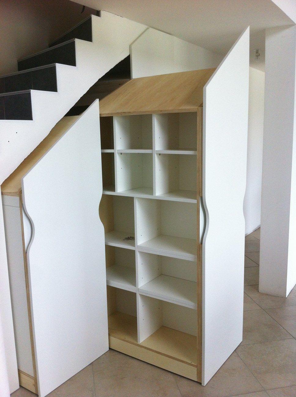 Placard Coulissant Sous Escalier Meuble Sous Escalier Rangement Sous Escalier Sous Escalier