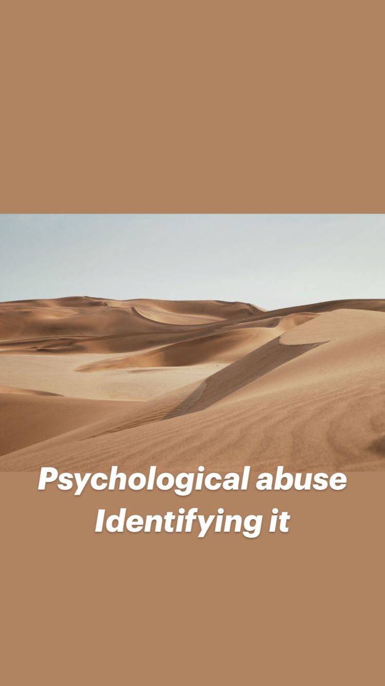 Psychological abuse Identifying it