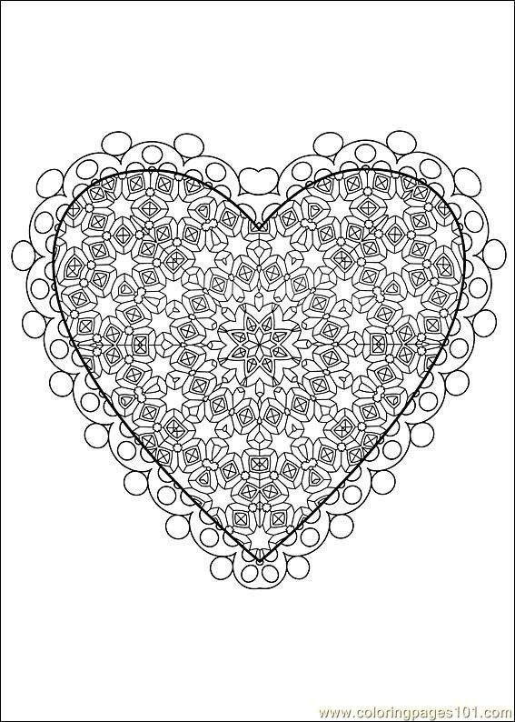 Difficult Level Mandala Coloring Pages Free Printable Coloring Page Valentine Daycol Valentine Coloring Pages Valentines Day Coloring Page Valentine Coloring