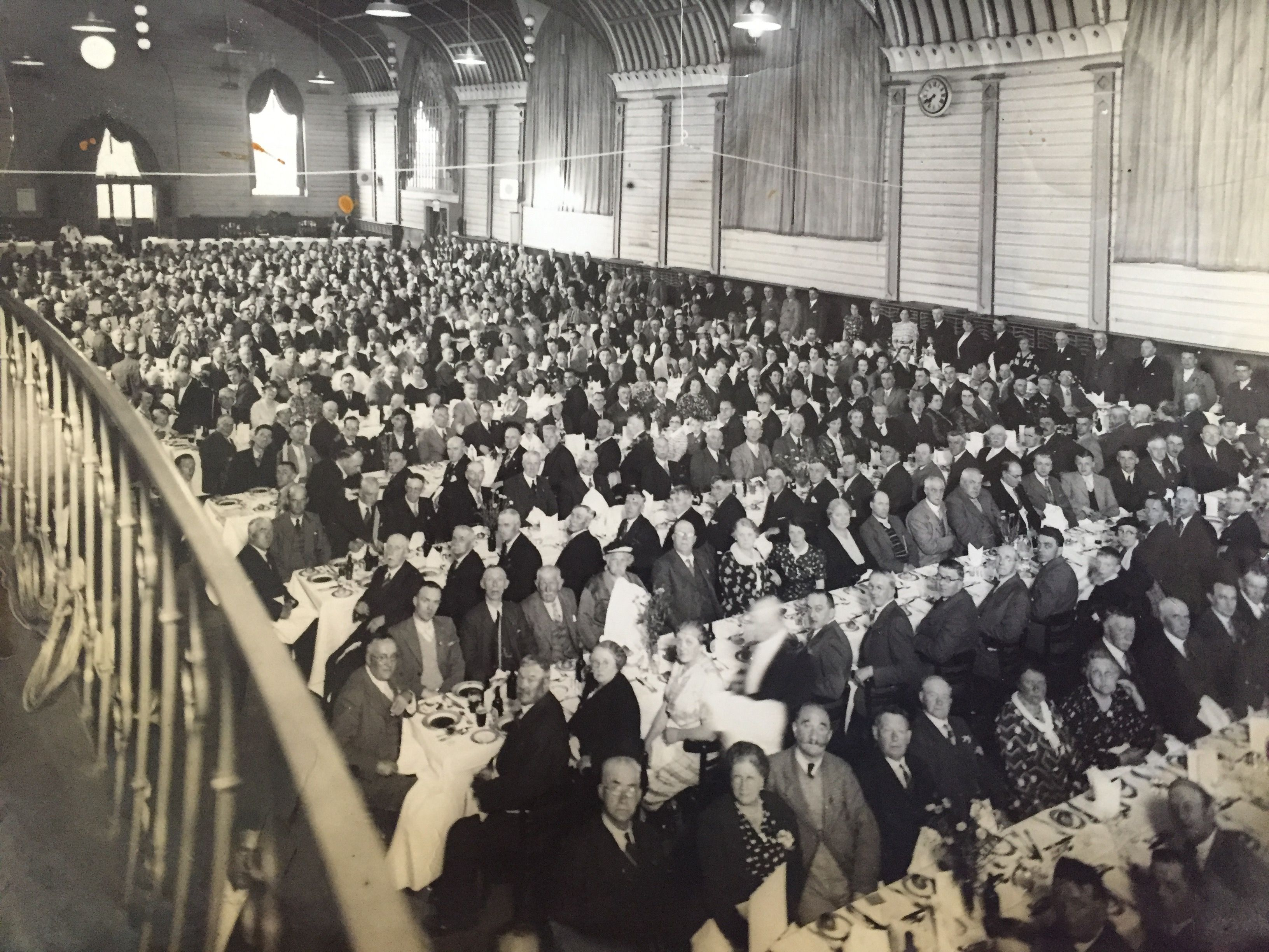 In the late-40s English's provided catering for Brighton Dome - here's a packed audience.