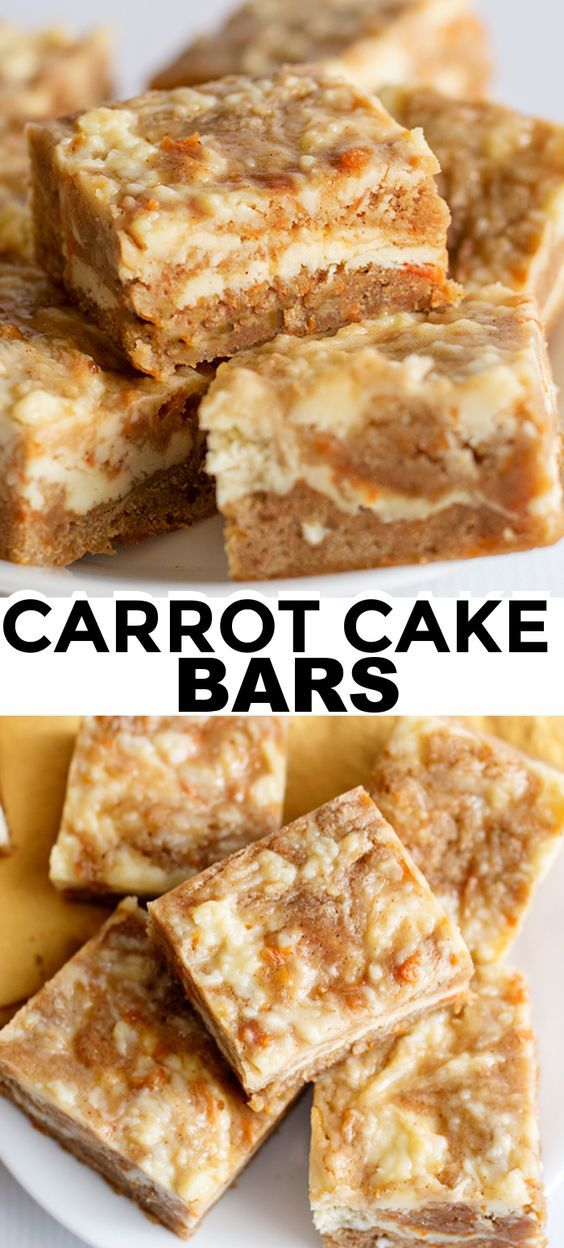 Carrot Cake Bars - Cookie Dough and Oven Mitt