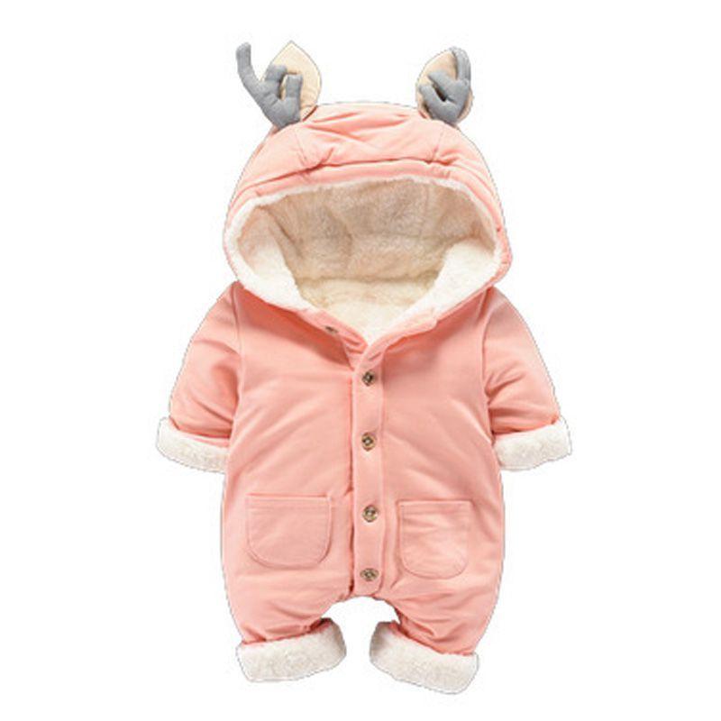 b841699586fb Newborn Thicken Warm Romper Boy Girl Christmas Deer Long Sleeve ...