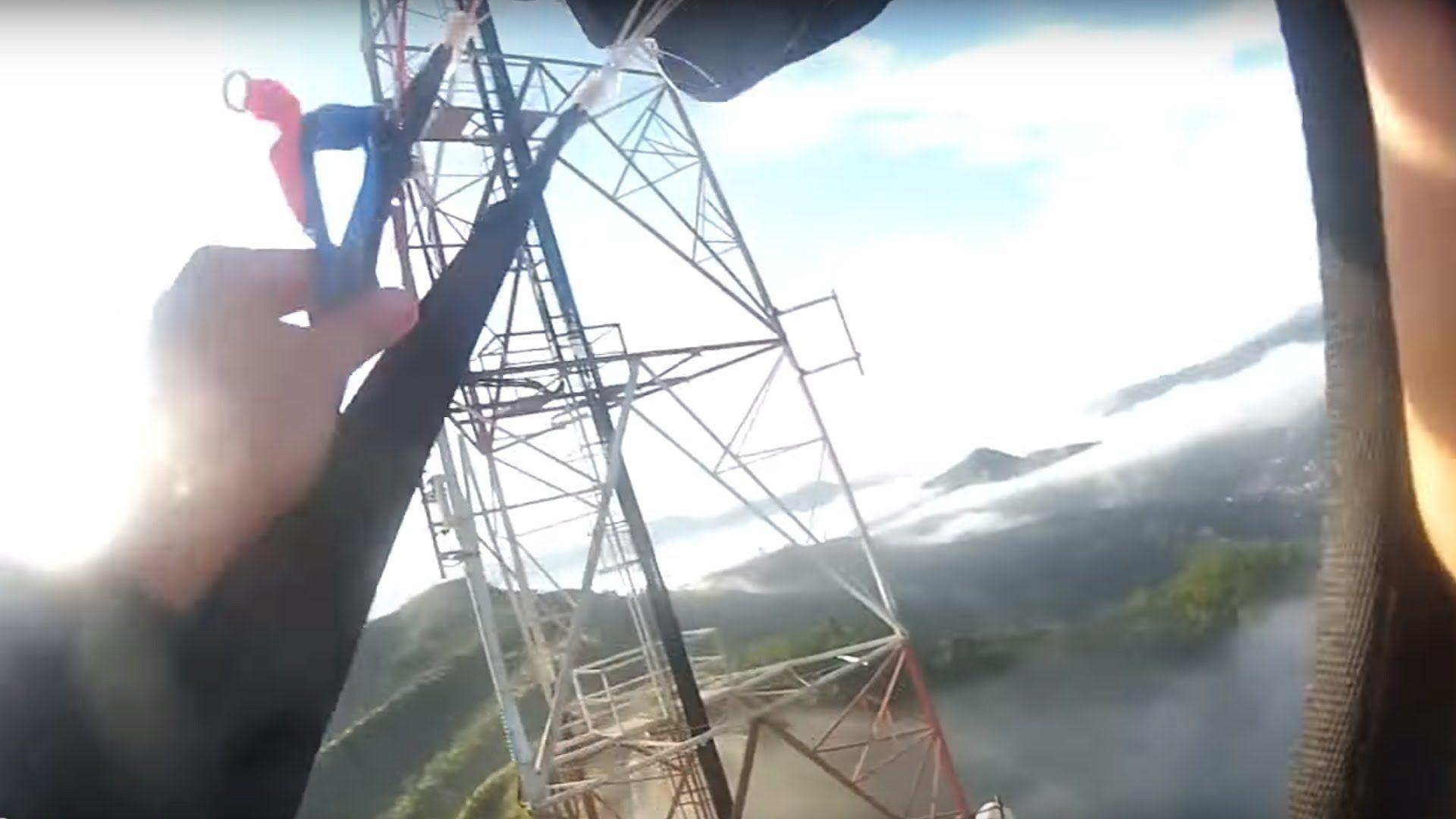 Friday Freakout: Sketchy BASE Jump + Miraculous Landing Through Fog, Acr...