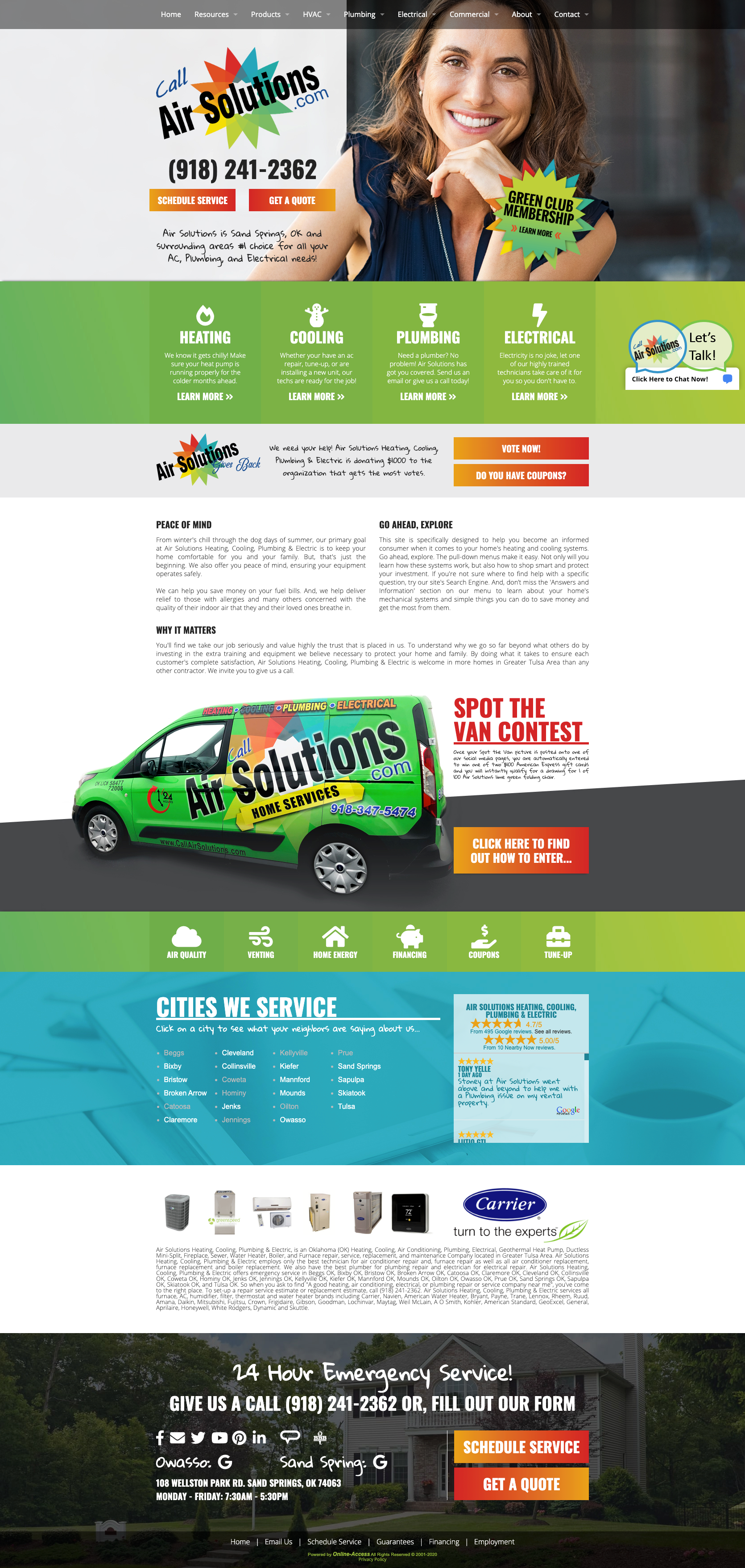 Contemporary Heating Air Conditioning And Plumbing Website Design