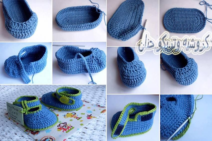 crochet baby bootties and sandals, crochet pattern and photo ...