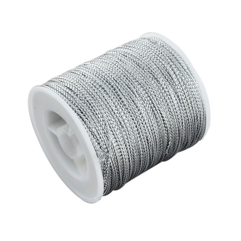 Details About 1mm Silver Metallic Braided Beading Cord 1m To 100m For Jewellery Making Gift Wrap Ribbon Creative Gift Wrapping Gift Wrapping