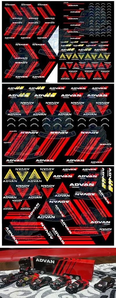 Yokohama Advan Racing Waterslide Decals In All Model Scales From 1 64 To 1 24 Ebay Vinyl Wrap Car Decals Custom Car Decals