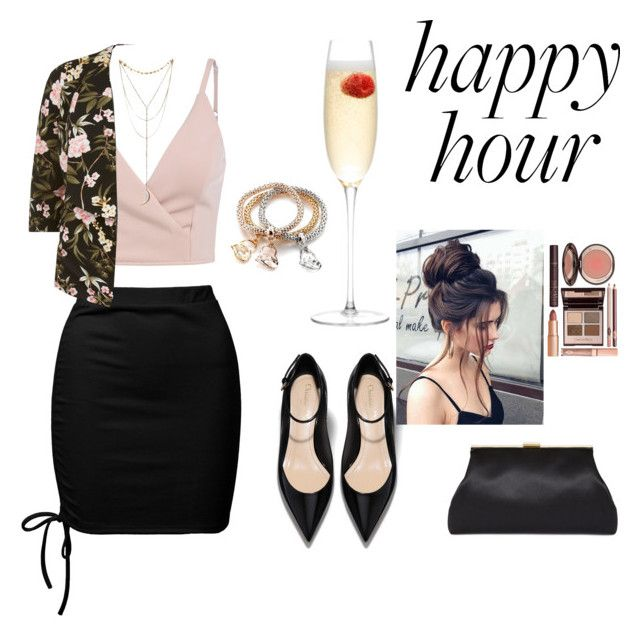 """""""Happy hour"""" by babis117 ❤ liked on Polyvore featuring Sans Souci, Charlotte Tilbury and LSA International"""
