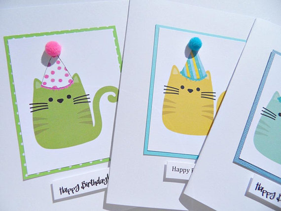 Kids Birthday Cards Funny Birthday Cards Birthday Cards For Cat