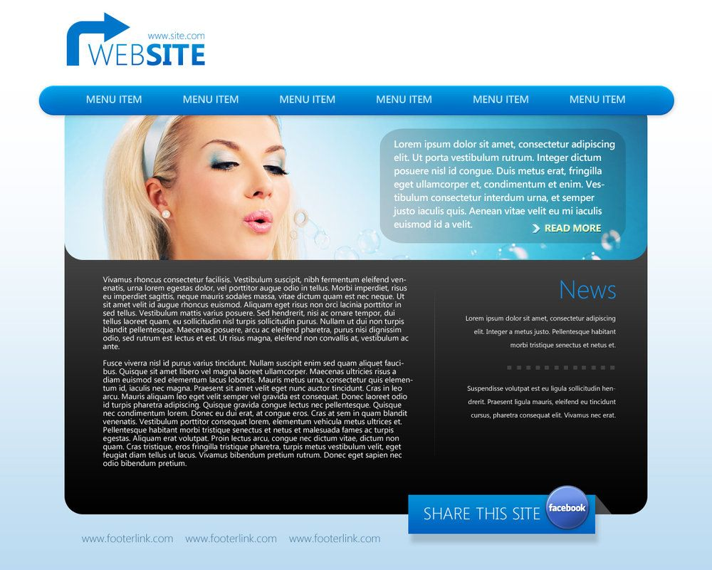 Psd-Website-Template local business advertising | Online Marketing ...