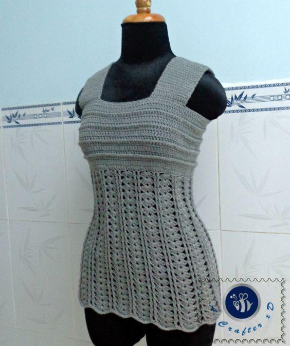 Crochet Wide Strap Tank Top Free Crochet Patterns Pinterest