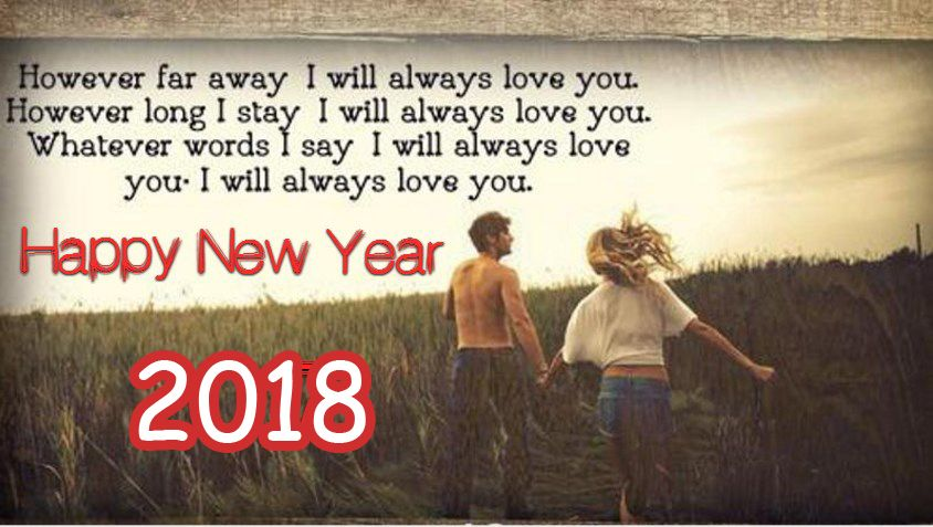 New Year I Love You Romantic Wishes Greeting Quotes 2018 ...