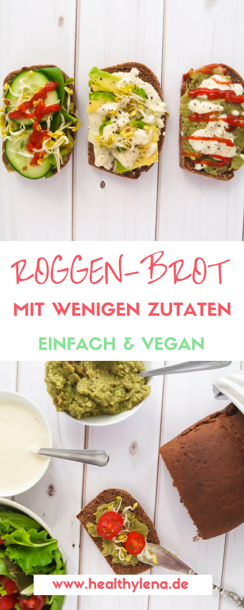 Roggenbrot – super einfach & mit nur 7 Zutaten (vegan | Roggenbrot ...