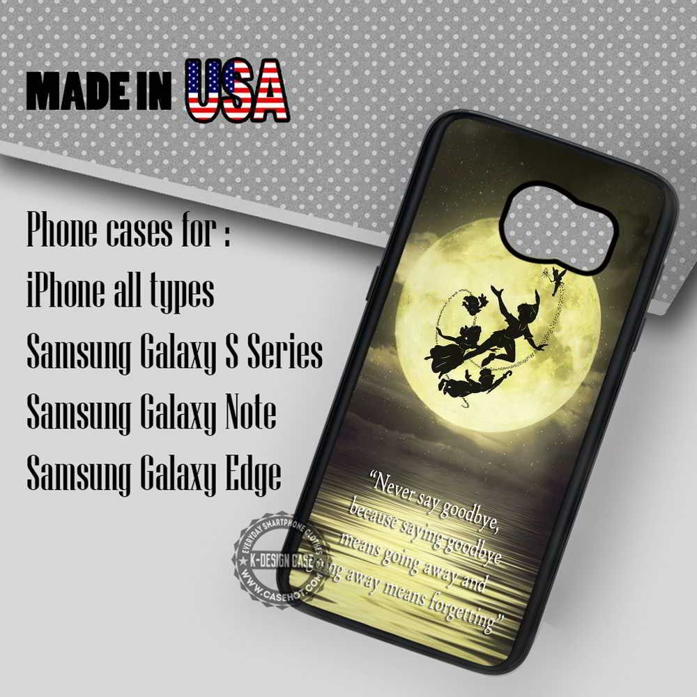 Peter Pan's Quote Neverland - Samsung Galaxy S7 S6 S5 Note 5 Cases & Covers