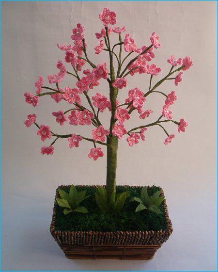 Crocheted Cherry Blossom Bonsai By Fior Di Pesco Lovely