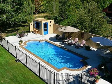1000 images about pool and deck ideas on pinterestoval above - Inground Pool Designs Ideas