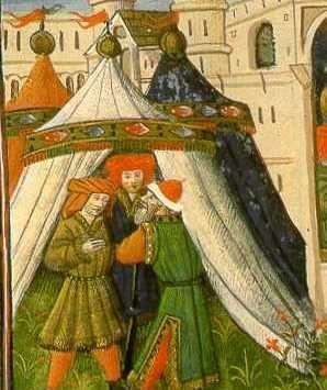 15th century (Die Mahlzeit des König Artus, from Livre de Messire, Lancelot du Lac)