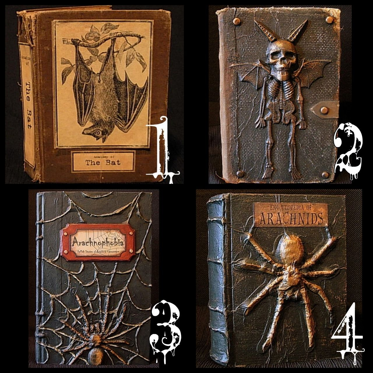 diy halloween altered books tutorials the numbers in the collage are from one of my favorite. Black Bedroom Furniture Sets. Home Design Ideas