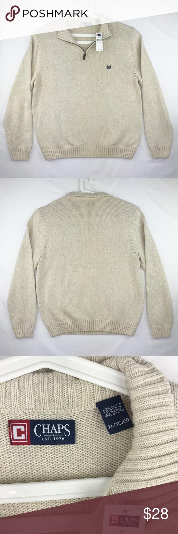 Chaps Mens North Coast Pullover Sweater