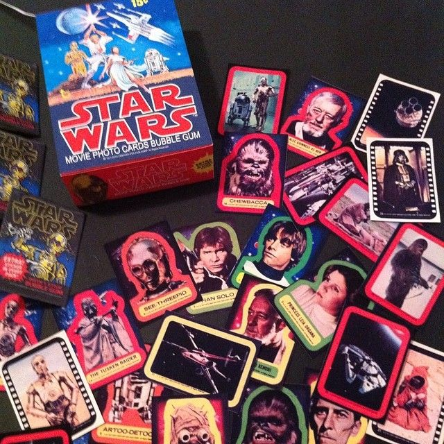 Custom vintage star wars movie card stickers remade all 5 series of stickers to go