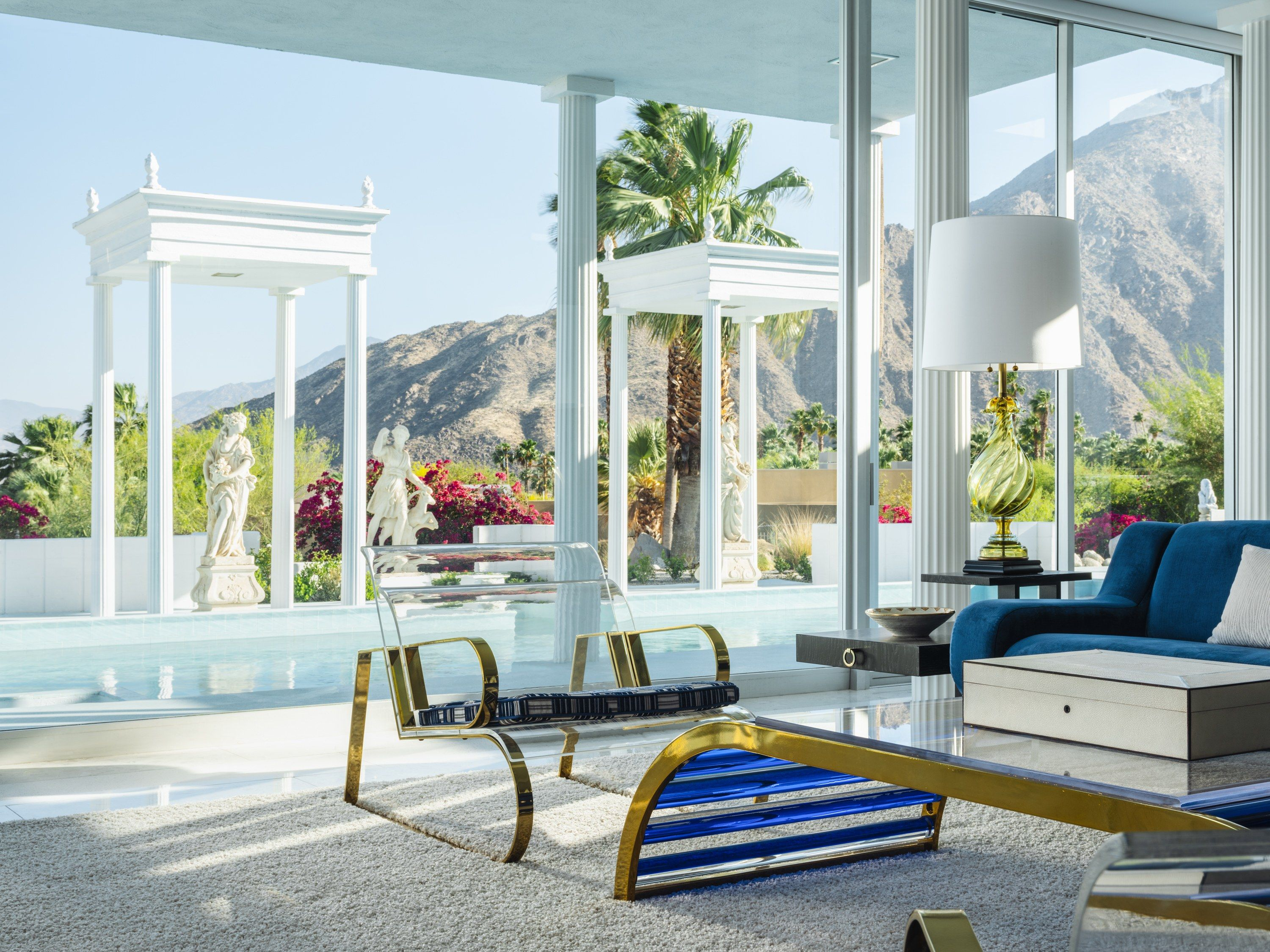 A Sweeping Palm Springs Villa That Redefines 1960s Glamour Palm Springs Villas Furniture Stores Nyc Architectural Digest