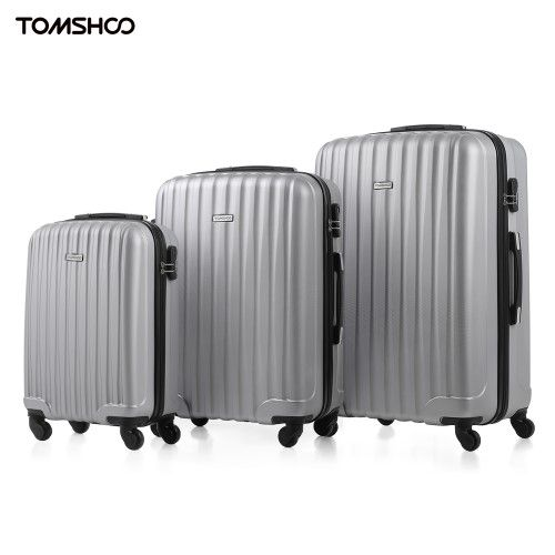 1768a886a699 Tomshoo Hard Shell 3 PCs Luggage Set Carry On Suitcase 20 24 28 inch ...