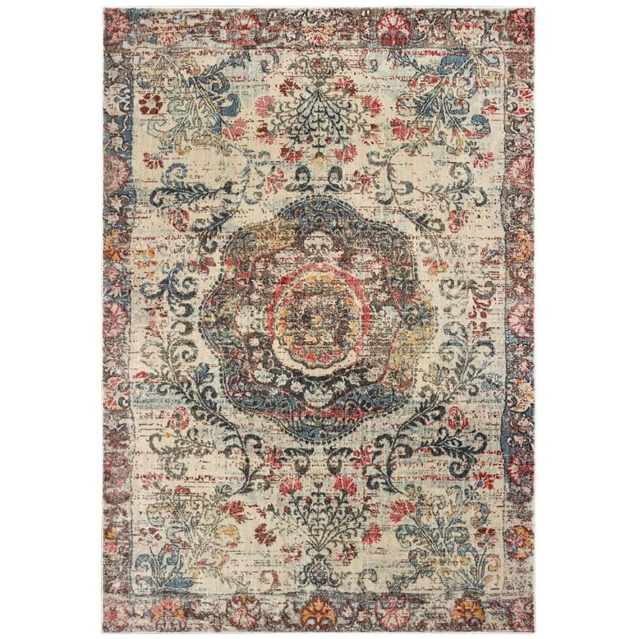 Archer Lane Keppel Multi Indoor Global Area Rug Common 7 X 10 Actual 79 Ft W X 114 Ft L 047panh76l In 2020 Area Rugs Floral Area Rugs Rugs