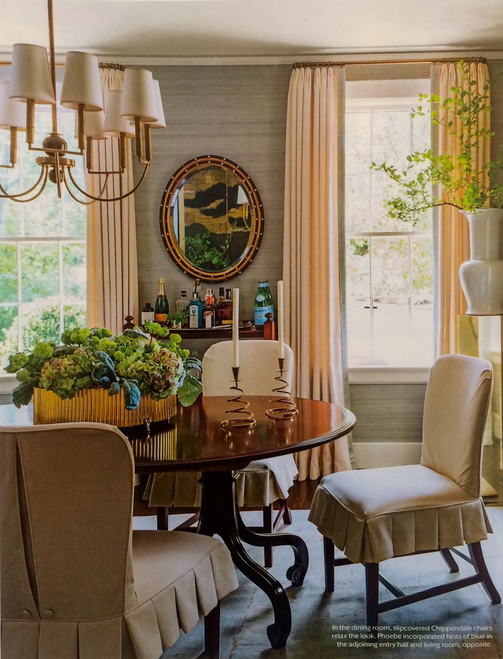 From Southern Living July 2017 Dining Room Of Former Editor Lindsay Bierman