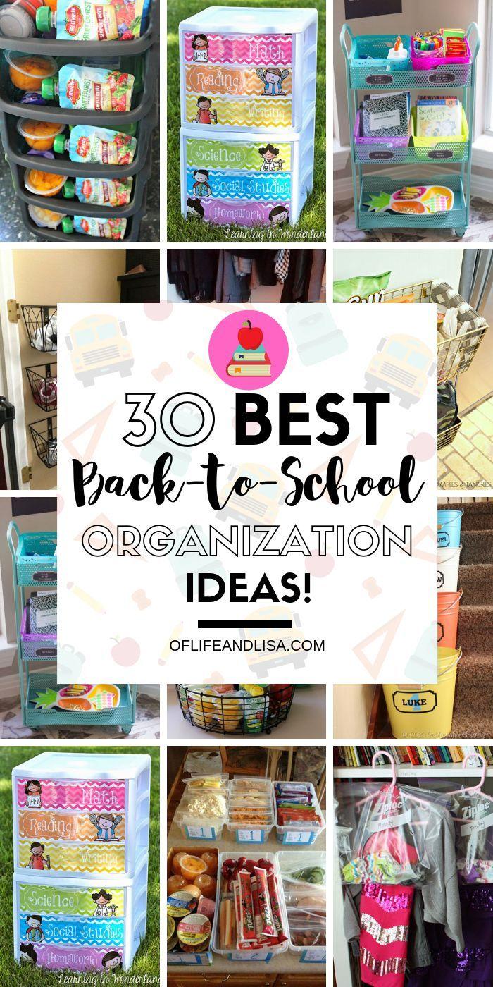 30 brillante DIY-Ideen für die Organisation des Schulanfangs, die Sie lieben werden