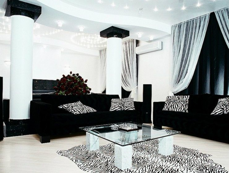 Black And Silver Living Room Inspirations Black And Silver Living Room Silver Living Room Living Room Design Black #silver #and #black #living #room #ideas