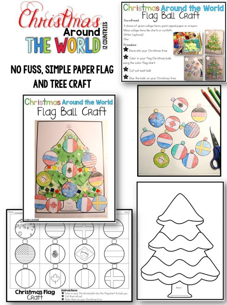 Nice Christmas Around The World Craft Ideas Part - 7: Christmas Around The World Writing Prompts, Crafts And Printable Activities