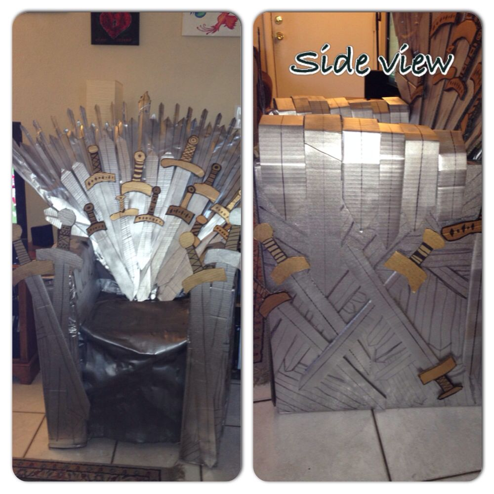 Home made game of thrones iron throne gameofthrones for Buy iron throne chair