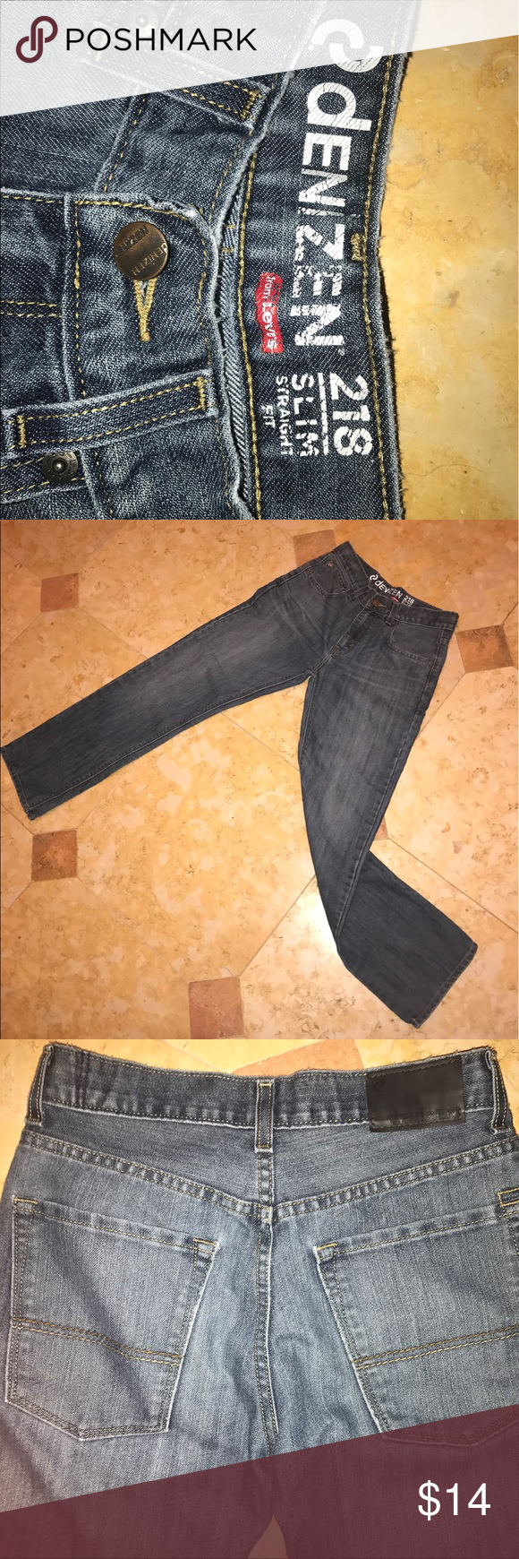 Levi's Denizen High 218 Slim Straight Fit High waisted appearance, very good condition. Levi's Pants Straight Leg