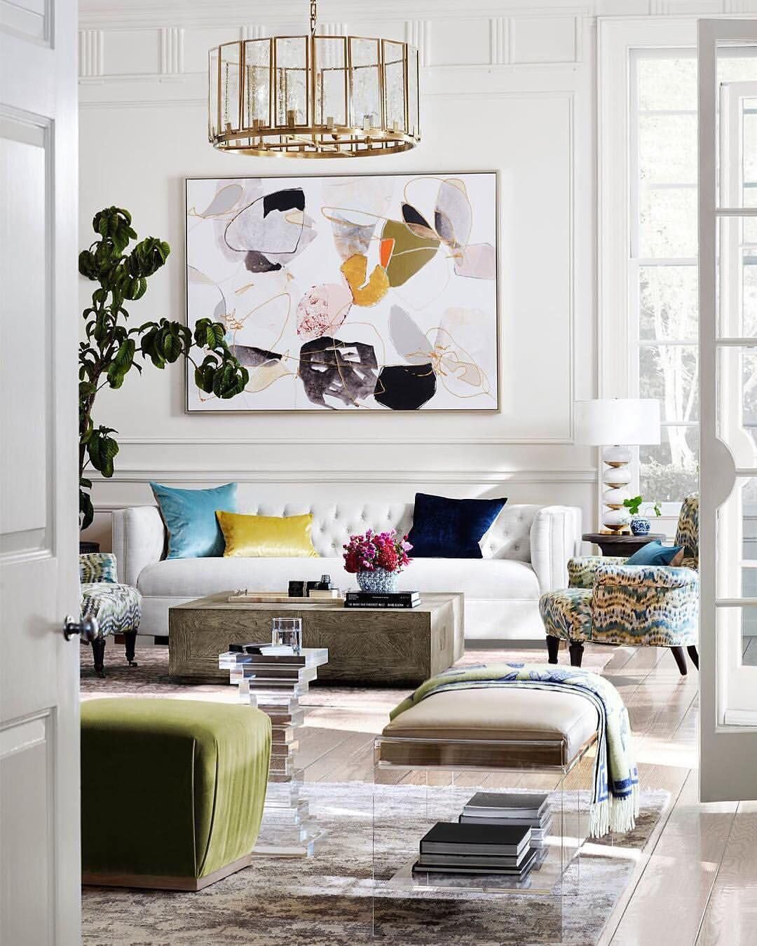 Spring Time Is All About Playing With Some Pops Of Color A Subtle Yet Impactful Way To Do That Is Through Art The Oli Elle Decor Living Room Room Decor Decor