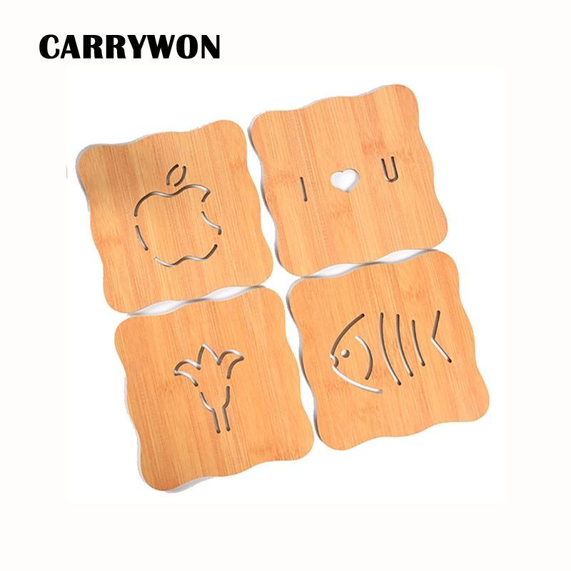 CARRYWON 2pcs/lot Wooden Serving Trays for Party Home Dinner Plate Dish Tableware Rubber Wood Tray for Snacks Fruit Milk Suqare