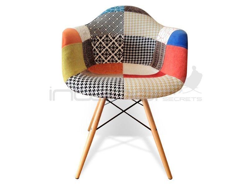 Dsr Stoel Replica : Eames replica daw dining side chair multi color fabric seat