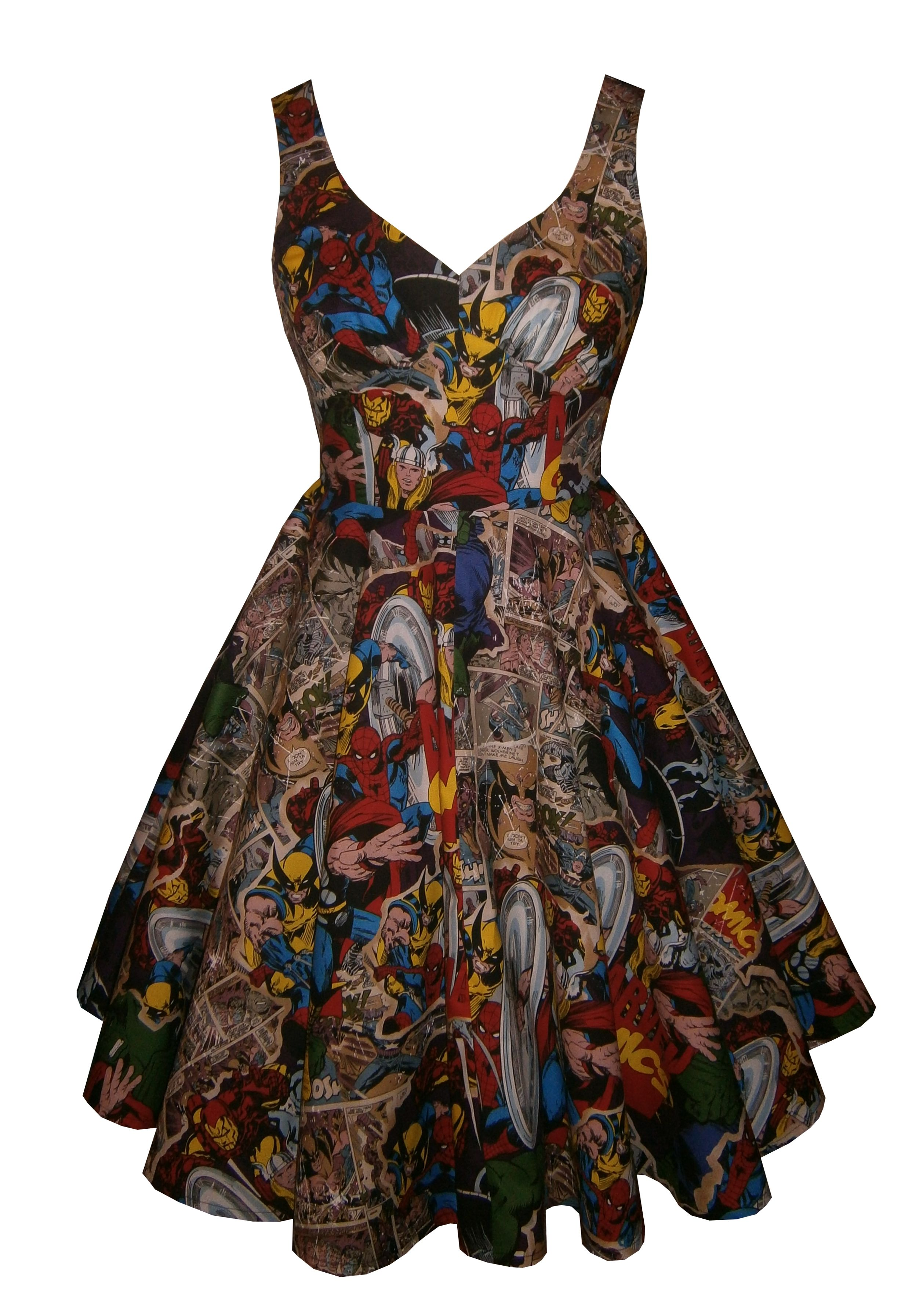 Full circle  Lily  in Marvel 3 fabric. 1950s vintage style dress. Omg I  would wear this in a heartbeat 40817e2aa