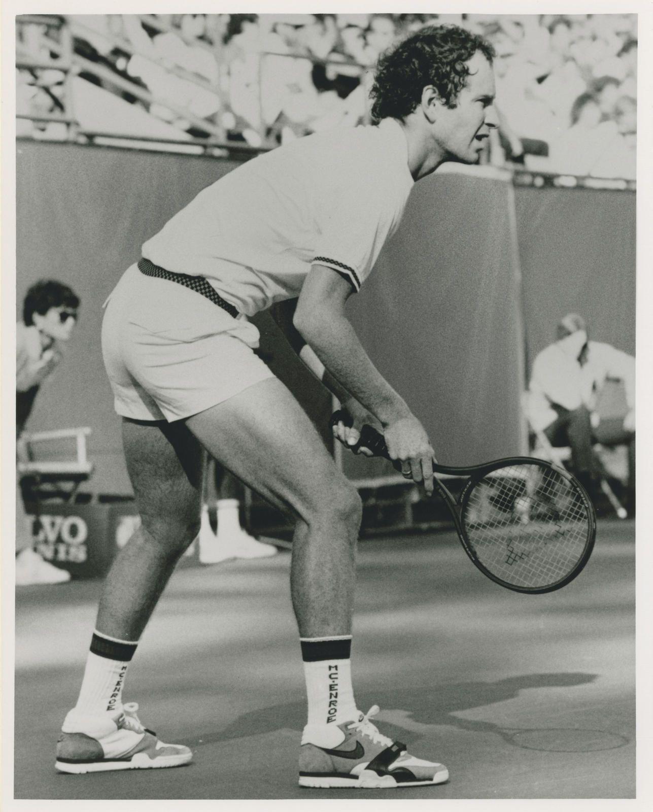 newest fa3b8 1baa3 John McEnroe wears a prototype of the Nike Air Trainer 1, 1986.
