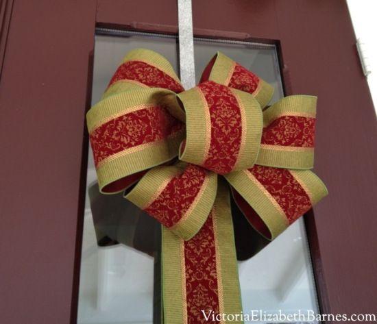 diy christmas bows my only craft skill victoria elizabeth barnes - Diy Christmas Bows