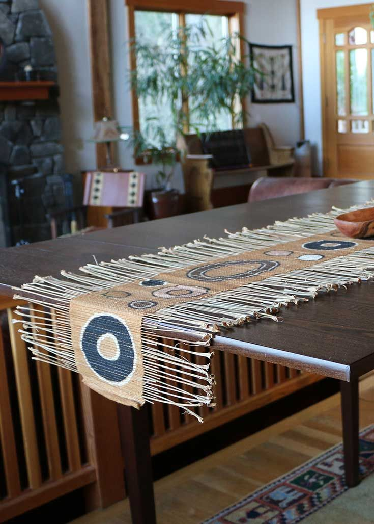 Geometric African Twig Amp Mudcloth Table Runner Table