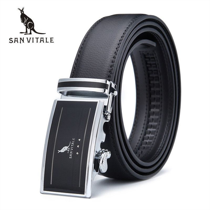 2016 New men's Fashion leather black mens belts for men luxury brand designer belts for male Top quality strap free shipping